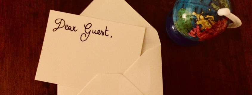 lettera di benvenuto
